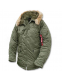 Куртка аляска Alpha Industries N-3B Parka Sage Green зимняя