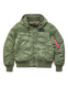 Куртка бомбер Alpha Industries MA-1 Hooded Rib Sage