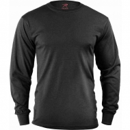 Футболка с рукавом Rothco Long Sleeve Solid T-Shirt Black