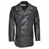Бушлат кожаный SCHOTT Leather Naval Pea Coat 140 Long Size
