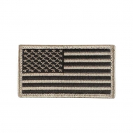 "Нашивка Rothco ""American Flag"" Patch - Black/Khaki"