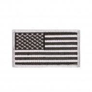 "Нашивка Rothco ""American Flag"" Patch - Black/Silver"