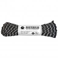 Корд Rothco Nylon Paracord Type III 550lb Black/Reflective