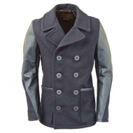 Бушлат шерстяной SCHOTT Slim Fit Pea Coat DU799 Navy