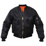 Куртка бомбер Rothco MA-1 Flight Jacket - Black