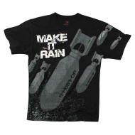 "Футболка Rothco Vintage ""Make It Rain Bombs"" T-Shirt Black"