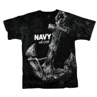"Футболка Rothco Vintage ""Navy Anchor"" Black"