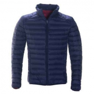 Куртка пуховик SCHOTT Nylon Ultra Light Down Filled Silverado Jacket Stand Collar - Navy