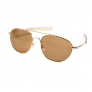 Очки армейские Rothco G.I. Type Aviator Gold/Brown - 10804