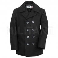 Бушлат шерстяной SCHOTT Classic Melton Wool Navy Pea Coat 740 Long Size