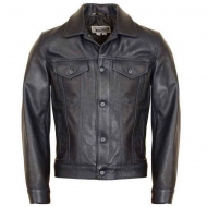 Куртка кожаная SCHOTT Soft Pebbled Cowhide Jean Jacket 120