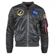 Куртка бомбер Alpha Industries L-2B Nasa Gunmetal