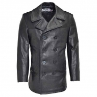 Бушлат кожаный SCHOTT Leather Naval Pea Coat 140