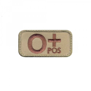 "Нашивка Rothco ""O Positive Blood Type"" Morale Patch"