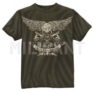 "Футболка Rothco Vintage USMC ""Death Before Dishonor"""