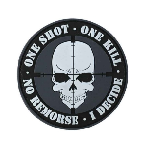 "Патч Kombat UK ""One Shot, One Kill"" PVC Patch"