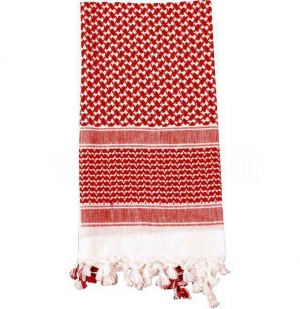 Шарф тактический Rothco Shemagh Tactical Desert Scarf Red/White